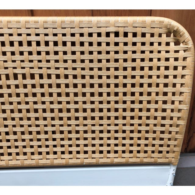 Boho Chic Vintage Boho Chic Full Size Woven Cane Headboard For Sale - Image 3 of 7