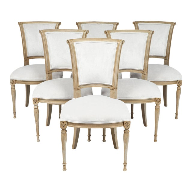 Directoire Style Dining Chairs - set of 6 For Sale