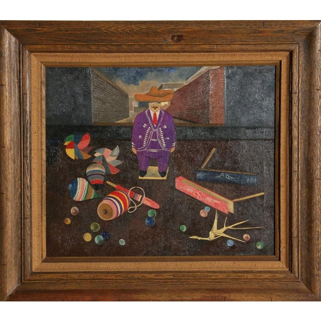 Children's Gustavo Montoya, Man with Toys, 1962 For Sale - Image 3 of 3