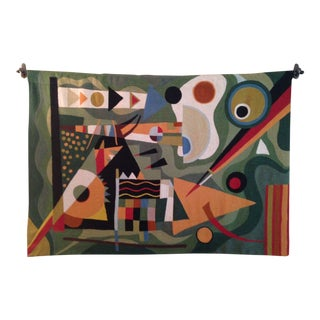 Mid Century Modern-Style Cubist Art Tapestry For Sale