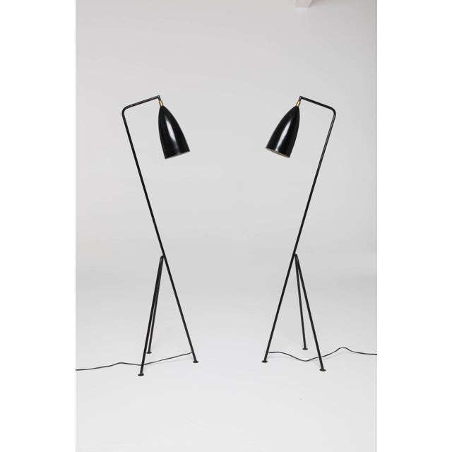 Pair of Mid-Century 'Grasshopper' Floor Lamps in the Manner of Greta Grossman - Price Per Lamp For Sale - Image 10 of 10