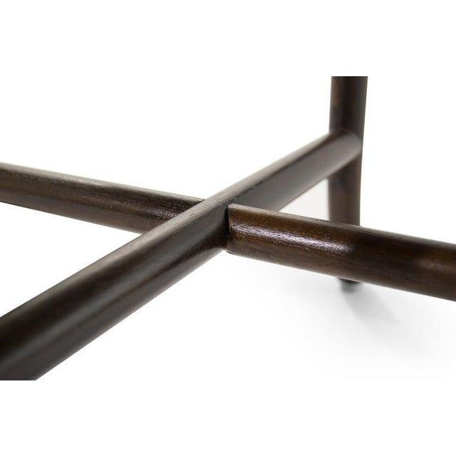 T.H. Robsjohn-Gibbings Walnut Sabre Leg Coffee Table C. 1956 For Sale - Image 9 of 11