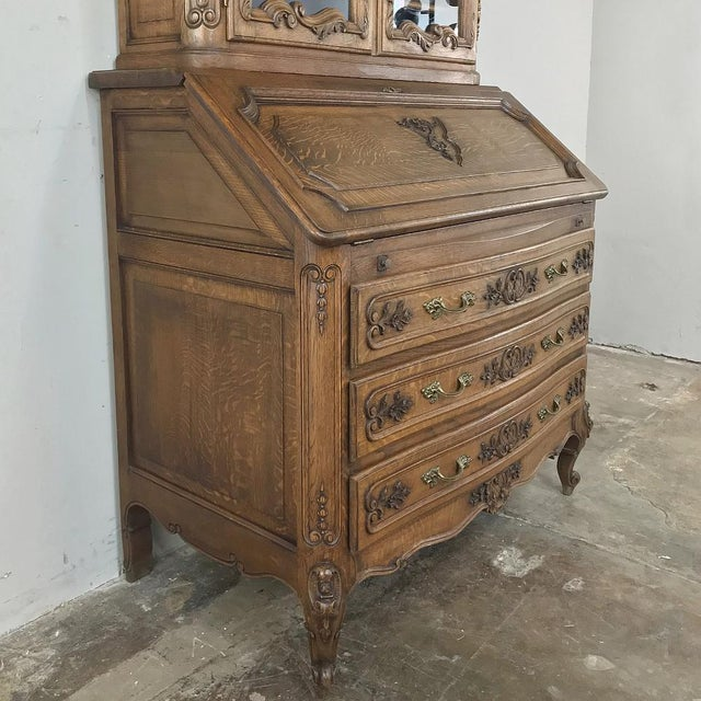 Antique Country French Secretary ~ Bookcase For Sale - Image 9 of 13
