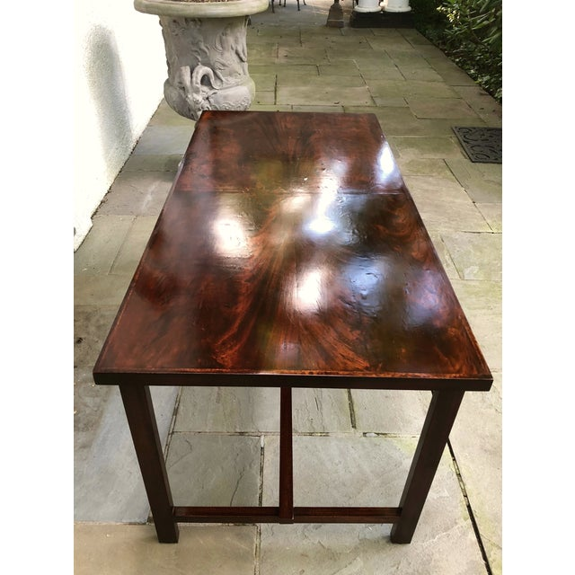 Custom Flame Mahogany Collapsible Dessert or Serving Table For Sale In New York - Image 6 of 10