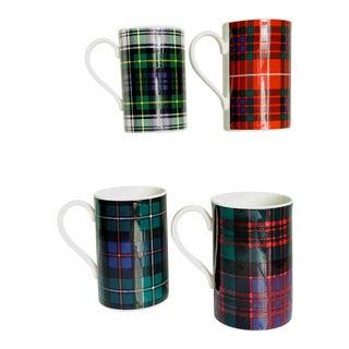 Vintage Dunoon Tartan Plaid Scottish Clans Mugs - Set of 4 For Sale