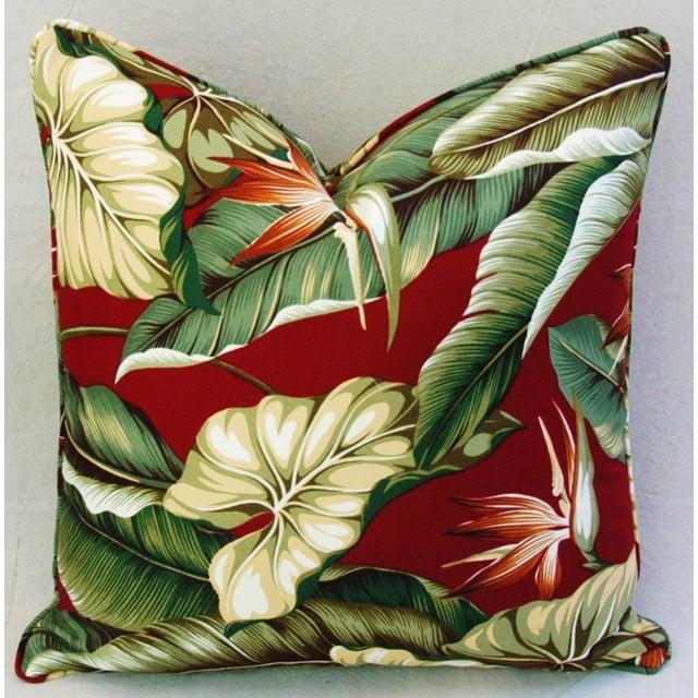 Custom Tailored Bird of Paradise Barkcloth Feather/Down Pillow - Image 2 of 5