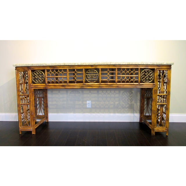 Maitland Smith Chippendale Style Console - Image 2 of 6