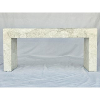 Karl Springer Style Parchment Console Table Preview