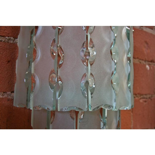Italian Pair of Italian Beveled Glass Sconces by Cristal Art For Sale - Image 3 of 7