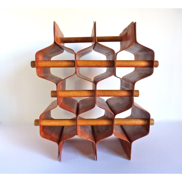 Torsten Johansson Bentwood Honeycomb Wine Rack - Image 4 of 8
