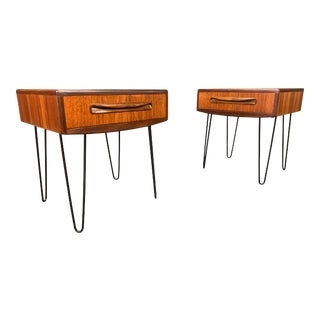 Vintage British Mid Century Modern Teak Nightstands by G Plan - a Pair For Sale