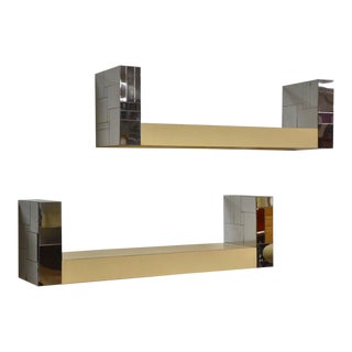 Paul Evans Cityscape Bookshelves- a Pair For Sale