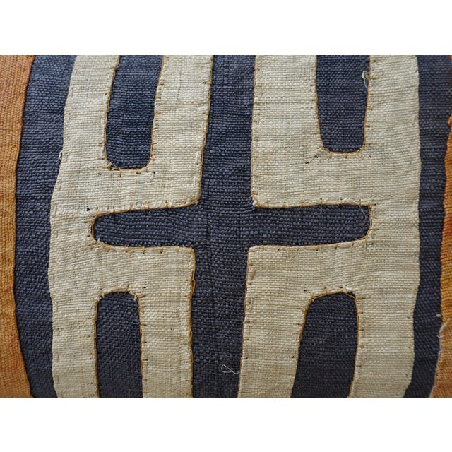 African Kuba Cloth Pillow For Sale - Image 5 of 7