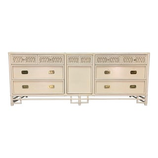 Asian Chinoiserie Style Bamboo Dresser For Sale