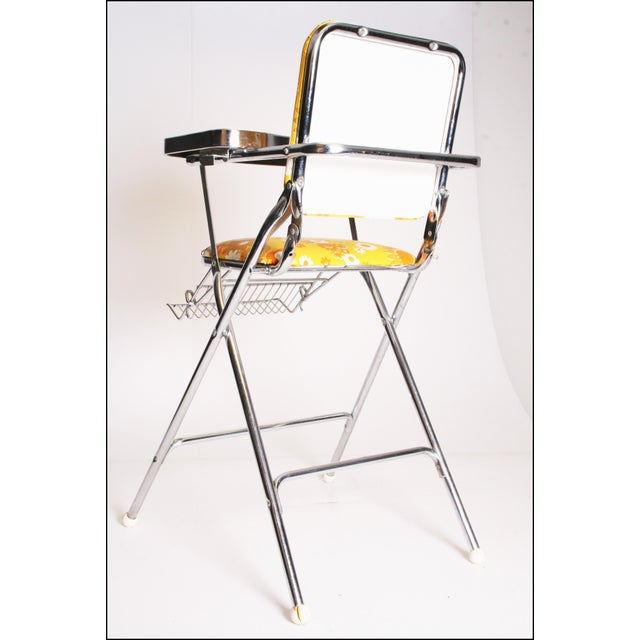 Mid Century Modern 70s Chrome High Chair by Taylor Tot For Sale - Image 4 of 11