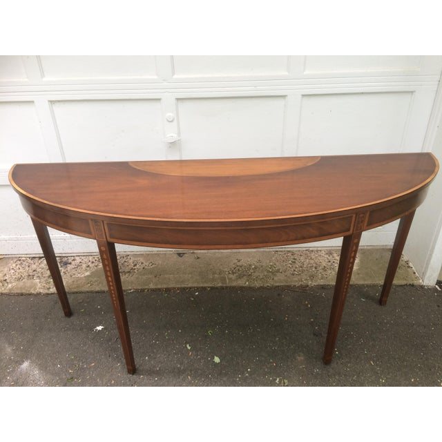Kittinger Mid-Century Demilune Console Table - Image 2 of 11
