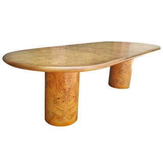 1960's Vintage Henredon Burl Olivewood Dining Table For Sale