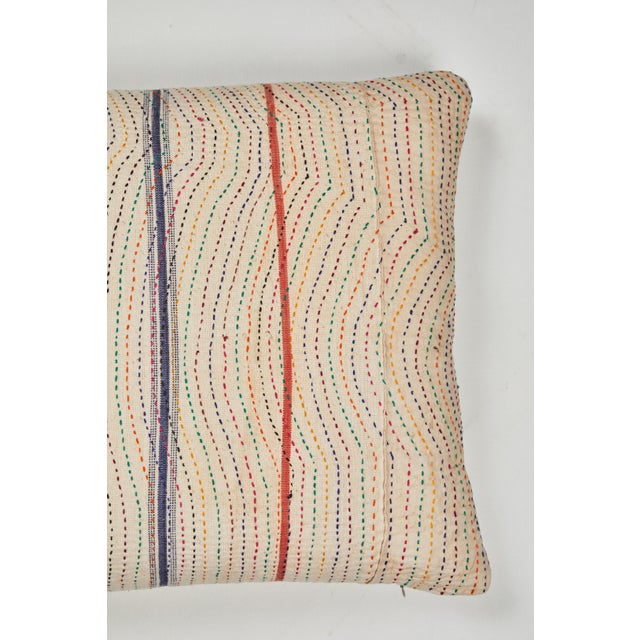 Asian Indian Kantha Stitched Pillow For Sale - Image 3 of 5