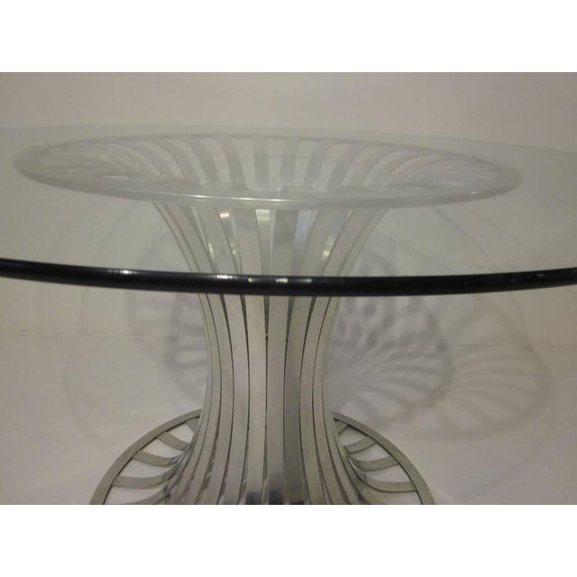 Russell Woodard Aluminium and Glass Dining Table For Sale In Cincinnati - Image 6 of 8