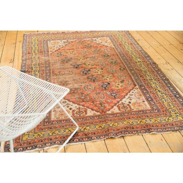 "Textile Antique Qashqai Rug - 4'11"" X 6'4"" For Sale - Image 7 of 13"