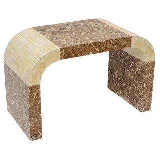 Coconut and Bone Waterfall Stool For Sale