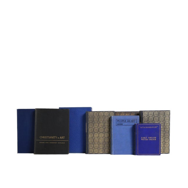 Booth & Williams Vintage Book Gift Set: Indigo Art Selections, S/8 For Sale - Image 4 of 5