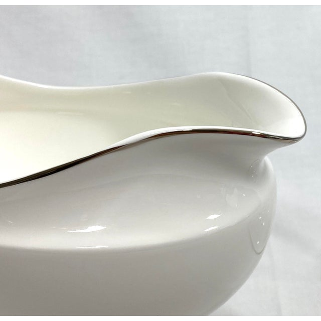 1990s Wedgwood Gravy Boat & Saucer, Set of 2 For Sale - Image 5 of 11