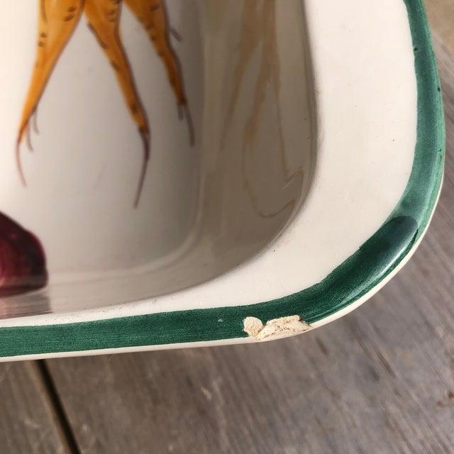 Italian Hand Painted Ceramic Vegetable Baking Dish/Serving Platter For Sale - Image 10 of 12