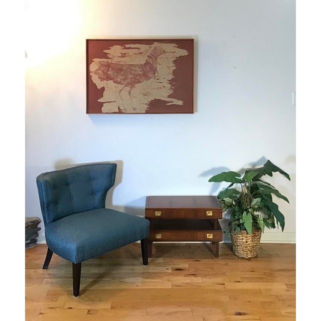 Mid Century Modern Walnut Stacked Style End Table For Sale - Image 12 of 13