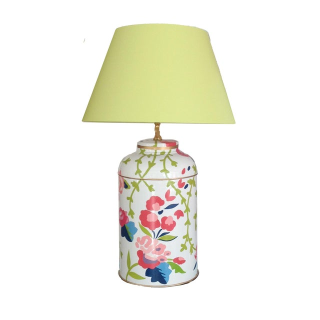 Dana Gibson Chintz Tea Caddy Lamp - Image 2 of 3