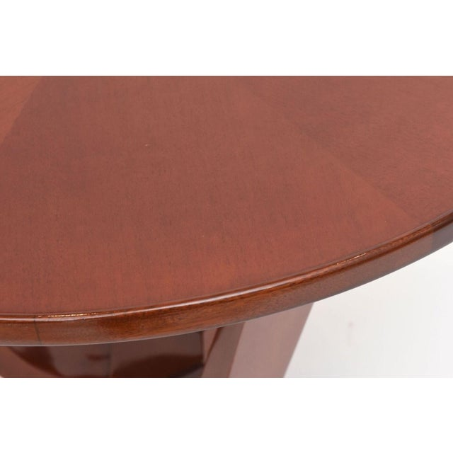 Jules Leleu Late Art Deco Mahogany Occasional Table For Sale - Image 4 of 9