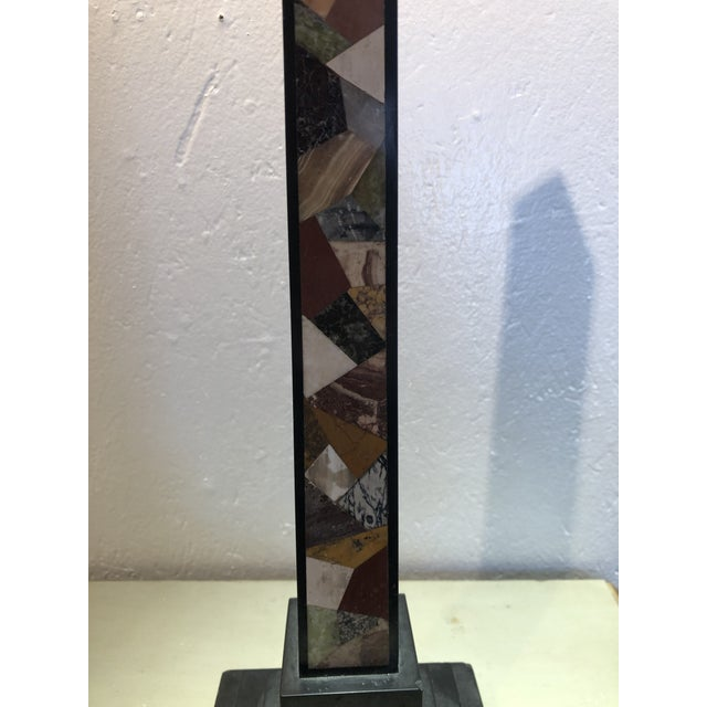 Inlaid Stone Obelisk For Sale - Image 12 of 13
