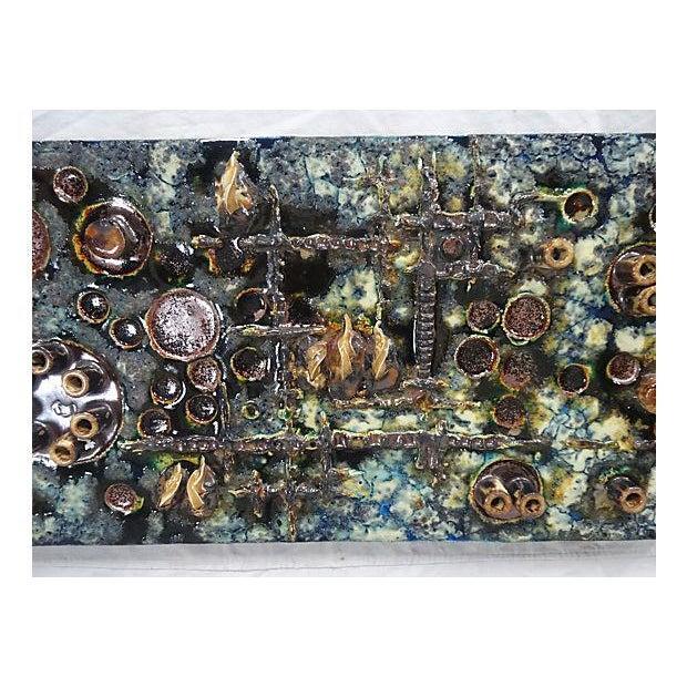 Mid-Century Modern Mid-Century Helmut Friedrich Schäffenacker Ceramic Wall Plaque For Sale - Image 3 of 7