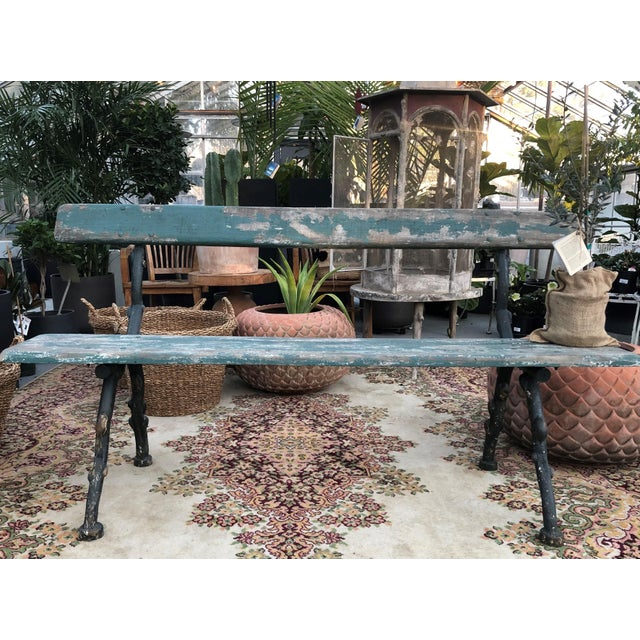 """French 1920s Vintage """"Versailles"""" Park Bench For Sale - Image 3 of 5"""