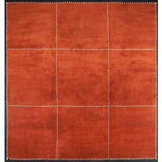 Boccara Hand Knotted Artistic Rug Design N.77 (Orange) For Sale