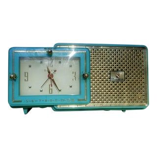 Vintage Art Deco Bulova Clock Radio