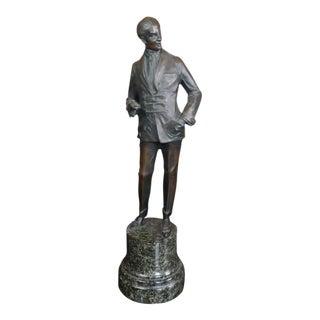 Bruno Zach - Elegant Gentleman -Beautiful Art Deco Bronze Sculpture-C.1930s For Sale