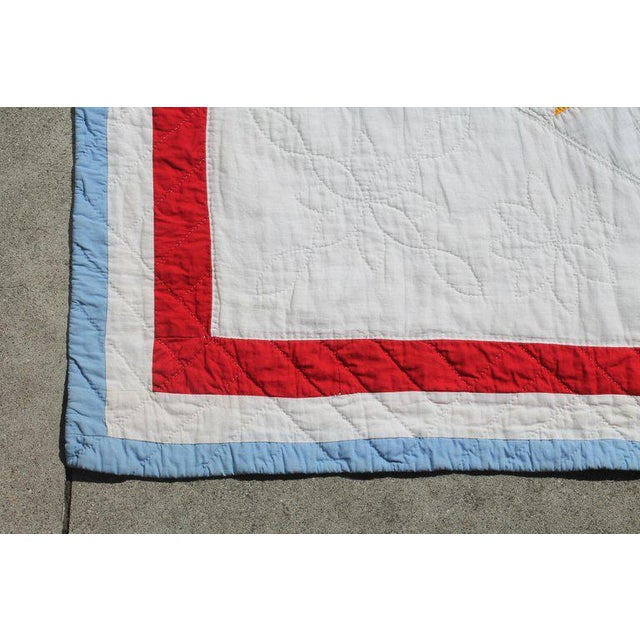 Textile Antique Northeastern Star Quilt For Sale - Image 7 of 11