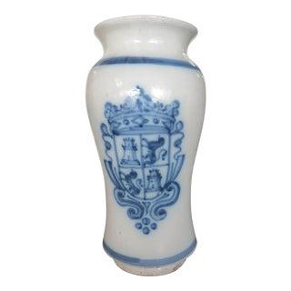 Antique Spanish Ceramic Apothecary Jar, 18th Century For Sale