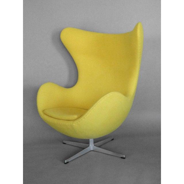 Fritz Hansen Properly Restored Arne Jacobsen Egg Chair For Sale - Image 4 of 5