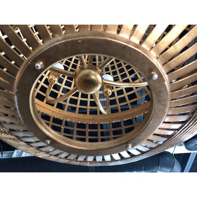 Visual Comfort Art Deco Aerin Lauder Gold Globe Circa Lighting Chandelier For Sale - Image 4 of 12