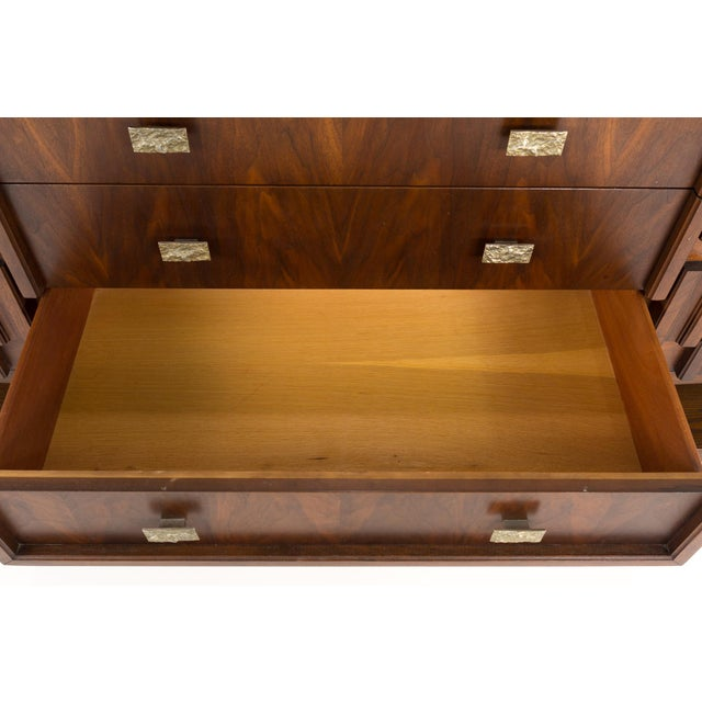 Brown 20th Century Brutalist Pedestal Lowboy Dresser For Sale - Image 8 of 12