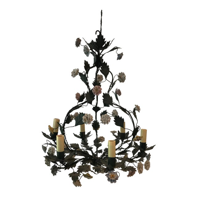 French Tole Chandelier - Image 1 of 8