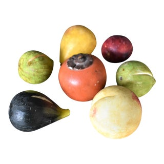Vintage Marble Fruit - Set of 7
