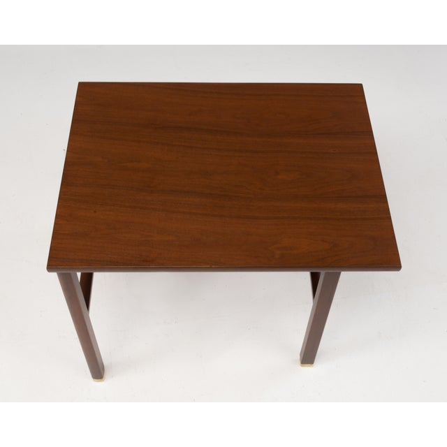 Metal Cantilevered Dunbar Side End Table Edward Wormley 1960s Marked For Sale - Image 7 of 12