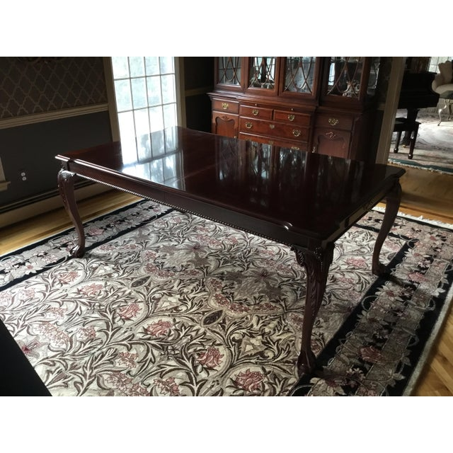1980s Chippendale Stanley Stoneleigh Mahogany Dining Table For Sale - Image 13 of 13