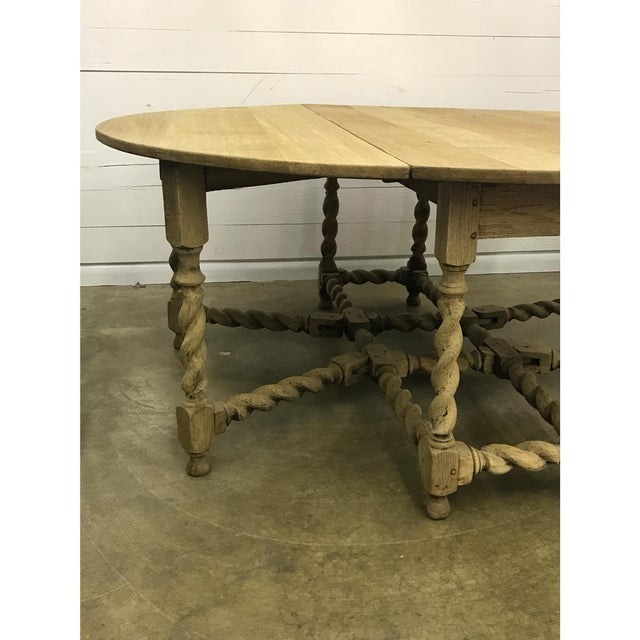 Bleached Oak Gate Leg Dining Table - Image 5 of 9
