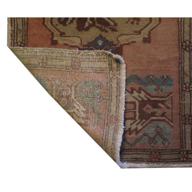 Vintage Turkish Oushak Rug - 1′10″ × 3′4″ - Image 3 of 6