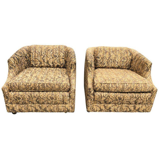 """Bernhardt """"Flair"""" Club Chairs - a Pair For Sale - Image 11 of 11"""