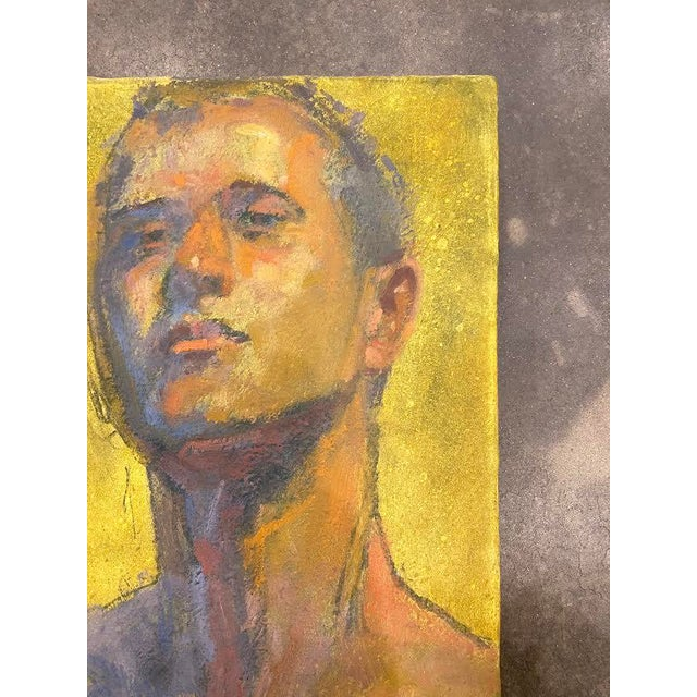 American American Portrait of a Man by Bruce Knecht For Sale - Image 3 of 8